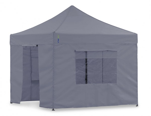 Seitenwand-Set Grau 2,3x2,3m für Tentastic Faltpavillon Polyester