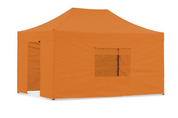 Seitenwand-Set PVC Orange 4x6m für Tentastic Faltzelt