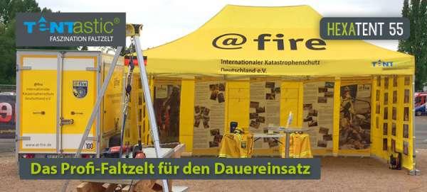 Tentastic-Faltzelt-Faltpavillon-Hexatent-Fire