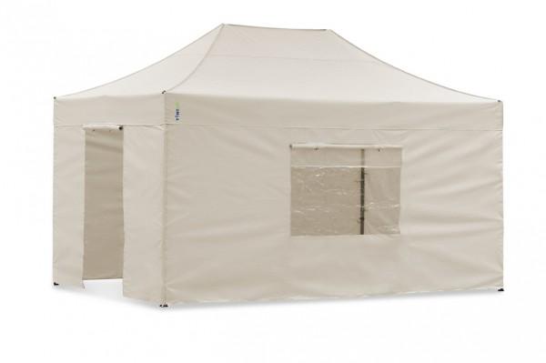 Seitenwand-Set Sand 4x6m für Tentastic Faltpavillon Polyester