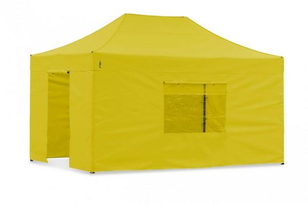 Seitenwand-Set Gelb 3 x 4,5m für Tentastic Faltpavillon Polyester