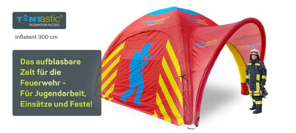 Tentastic-aufblasbares-Zelt-Inflatent-300-Feuerwehrzelt