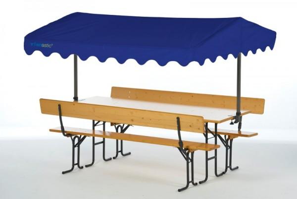 Tentastic Bierbank Überdachung Solakite 220 blau - der Sonnenschutz für die Standard-Biergarnitur